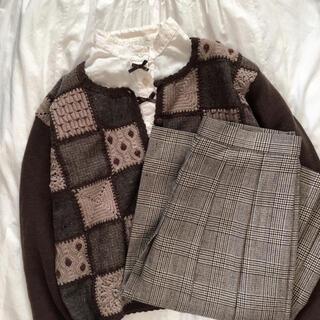 ロキエ(Lochie)の古着 チェックスカート(ひざ丈スカート)