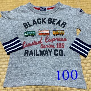 mikihouse - ミキハウス Black bear ロンT 100