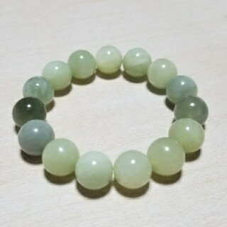 天然石 パワーストーン 数珠 ブレスレット バングル グリーンミルキー翡翠