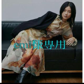 アメリヴィンテージ(Ameri VINTAGE)のUNDRESSED AMELIA INK ART DRESS (ロングワンピース/マキシワンピース)