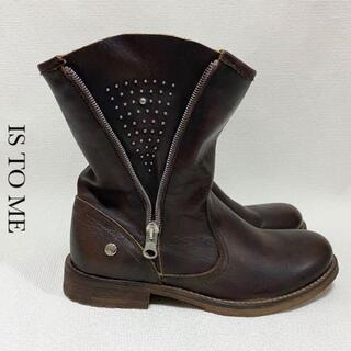 フレームワーク(FRAMeWORK)の【定価2.5万】IS TO ME 本革 サイドジップ レザー ブーツ(ブーツ)