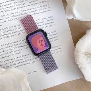 アップルウォッチ(Apple Watch)の【新品】Apple Watchバンド ベルト 38/40mm ピンク パープル (その他)