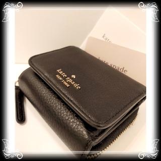 kate spade new york - セール 訳有 新品 kate spade 革製 財布 ¥30,800 黒 三つ折