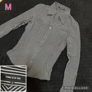 コムサデモード(COMME CA DU MODE)の░ 美品 コムサデモード ブラック ボーダシャツ(シャツ/ブラウス(長袖/七分))