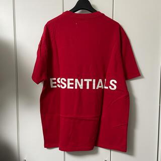 FEAR OF GOD - essentials fear of god  fog Tシャツ M 赤 レッド