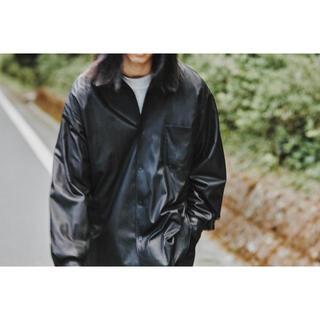 COMOLI - 【新品】定価約11万 COMOLI 21AW レザー コモリ シャツ サイズ2