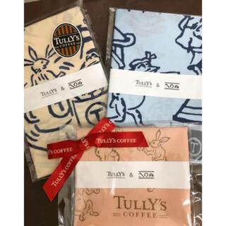 タリーズコーヒー(TULLY'S COFFEE)のタリーズ 鳥獣戯画 風呂敷&手ぬぐい 3枚セット(日用品/生活雑貨)