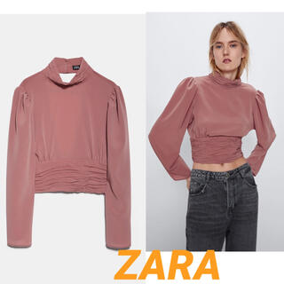 ZARA - 新品タグ付き ZARA ザラ バックオープン ブラウス ギャザー