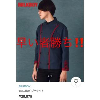 MILKBOY - 【新品】MILKBOY ミルクボーイ BELLBOY ジャケット 刺繍 タグ付き