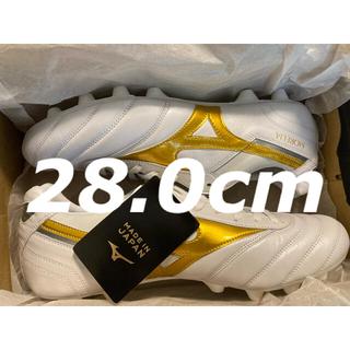 ミズノ(MIZUNO)のミズノ モレリア II JAPAN 28.0cm ホワイト ゴールド(シューズ)