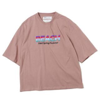 Dairiku 20ss beach Tシャツ ピンクオレンジ 20SS
