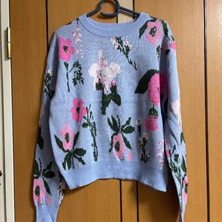 GU - GU ジーユー 花柄セーター
