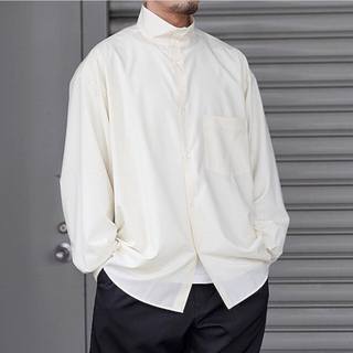 1LDK SELECT - 【Graphpaper(グラペーパー)】オーバーサイズスタンドカラーシャツ