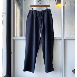 コモリ(COMOLI)のCOMOLI コットン吊裏毛 スウェットパンツ 21aw ブラック サイズ1(スウェット)