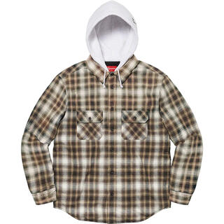 Supreme - Supreme Hooded Flannel Zip Up Shirt 茶色