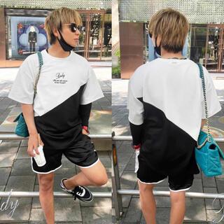 レディー(Rady)の新品♡Rady♡バイカラーメンズTシャツ♡L(Tシャツ/カットソー(半袖/袖なし))