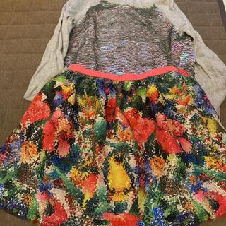 エイチアンドエム(H&M)のH&M スパンコールスカート130センチ6〜8才 オマケ付き(スカート)