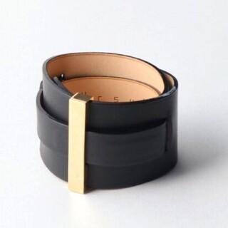 L'Appartement DEUXIEME CLASSE - L'Appartement【URSUL】Leather cuff ブラック
