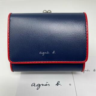 agnes b. - 未使用☺︎agnes b.  voyage 二つ折り財布 ネイビー がま口 赤