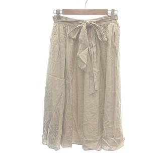 イエナスローブ(IENA SLOBE)のイエナ スローブ IENA SLOBE 17SS スカート ひざ丈 リネン ベー(ひざ丈スカート)