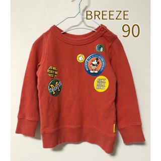 BREEZE - ブリーズ トレーナー 90  BREEZE 長袖トップス ミッキー ディズニー