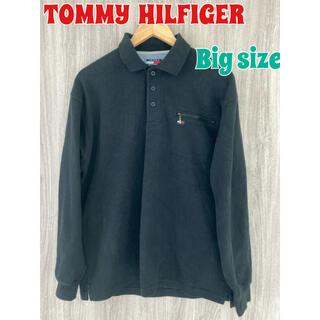 TOMMY HILFIGER - TOMMY  HILLFIGER 長袖ポロシャツ スウェットポロシャツ