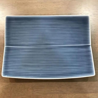 白山陶器 - 白山陶器★  ブルー 長方皿 中皿            波佐見焼 深川製磁