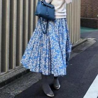 Drawer - Drawer  花柄プリーツロングスカート