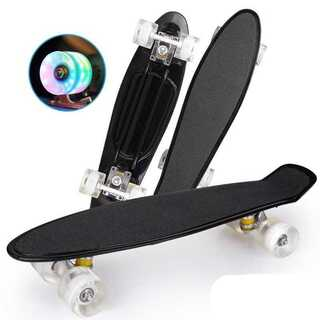 スケボー ミニクルーザー 滑り止め付き ブラック 【128】(スケートボード)