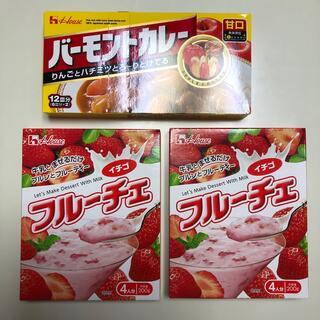 ハウス食品 - バーモンドカレー甘口12皿分 とフルーチェイチゴ200グラム2箱