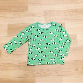 キッズズー(kid's zoo)の◼️美品 キッズズー 長袖 トップス パンダ 90◼️(Tシャツ/カットソー)