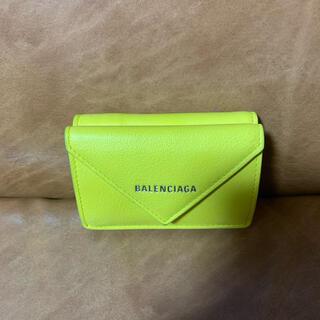 バレンシアガ(Balenciaga)のBARENCIAGA ペーパーミニウォレットイエロー(財布)