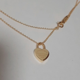 Tiffany & Co. - ティファニー k18 ハートロックネックレス