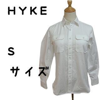 ハイク(HYKE)のHYKE ハイク シャツ Yシャツ ホワイト Sサイズ 綿100(シャツ/ブラウス(長袖/七分))