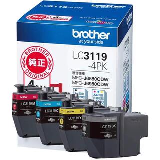ブラザー(brother)の【新品未使用】brother LC3119-4PK 純正 インク ブラザー(PC周辺機器)