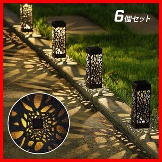 ガーデンソーラーライト 埋め込み式 LED 6個セット