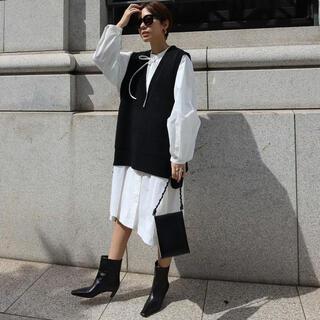 【新品未使用】machatt リボンタックシャツドレス ホワイト