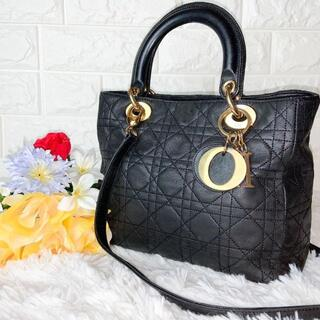 Christian Dior - DIOR レディディオール カナージュ 2way ショルダー付きハンドバッグ