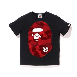 アベイシングエイプ(A BATHING APE)のBAPE COLOR CAMO BIG APE HEAD KIDS T100cm(Tシャツ/カットソー)