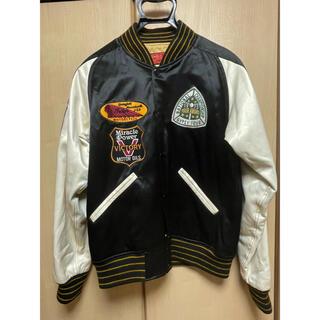 トウヨウエンタープライズ(東洋エンタープライズ)のINDIAN MOTORCYCLE 刺繍 サテンスタジャン38(M)(スタジャン)