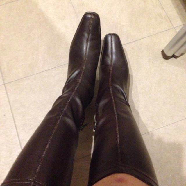 ロングブーツ ダークブラウン 24cm レディースの靴/シューズ(ブーツ)の商品写真