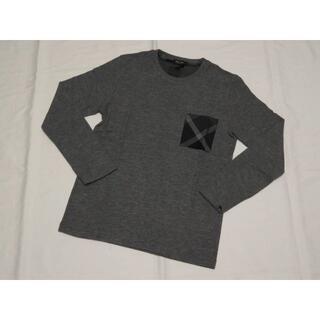 ブラックレーベルクレストブリッジ(BLACK LABEL CRESTBRIDGE)のブラックレーベル クレストブリッジ 長袖ニットセーター薄手M グレー18000円(ニット/セーター)