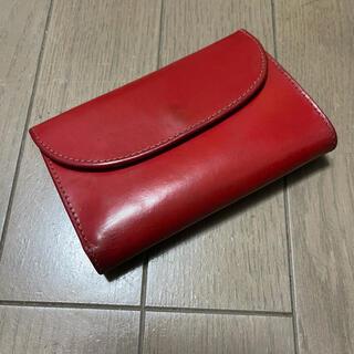 WHITEHOUSE COX - ホワイトハウスコックス 三つ折り財布 赤色