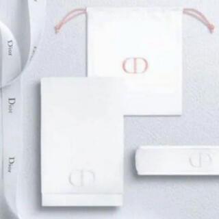 Christian Dior - クリスチャンディオール ノベルティ ヘアバンド&タオル&ポーチ(巾着) 箱なし