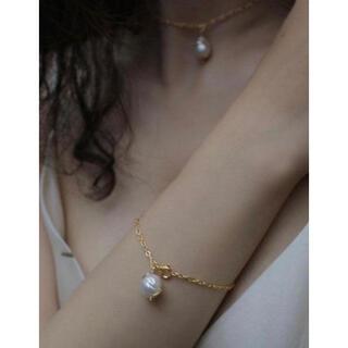 エテ(ete)の2点セット*ゴールド14K 白蝶真珠ネックレス&ブレスレット(ネックレス)