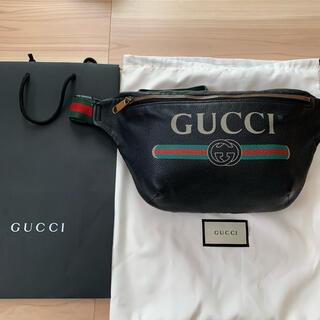 Gucci - GUCCI グッチ ヴィンテージロゴ レザー ベルトバッグ