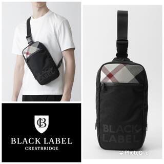 BLACK LABEL CRESTBRIDGE - 最新 新品 ブラックレーベル クレストブリッジ チェック ボディバッグ ベージュ