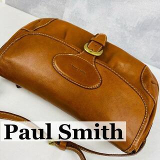 ポールスミス(Paul Smith)のポールスミス ショルダーバッグ 本革 ブラウン ロゴ型押し ユニセックス(ショルダーバッグ)