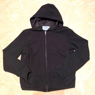 プラダ(PRADA)のプラダ パーカー コットン ストレッチ 黒 ブラック XS PRADA 美品(パーカー)