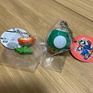 ニンテンドウ(任天堂)のマリオ マスコットフィギュア ファイヤー キノコ(キャラクターグッズ)
